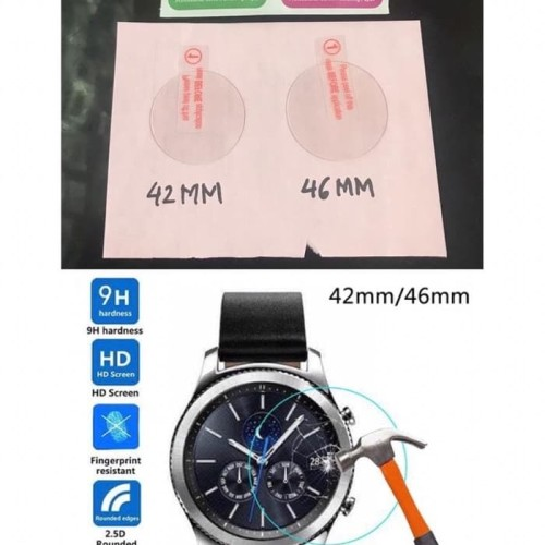 Foto Produk Tempered Glass Samsung Galaxy Watch 42mm / 46mm Anti Gores Kaca dari wenz acc