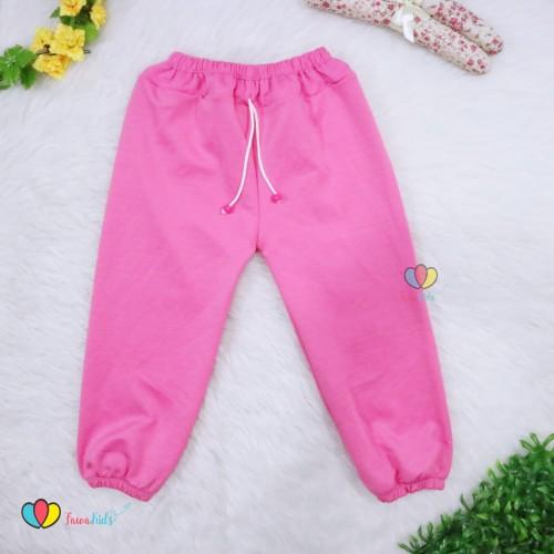 Foto Produk (Anak Perempuan) Jogger Polos Molly Uk 1-10 Tahun / Joger Pants Celana - 1-2 tahun dari Kios Balita Fawa