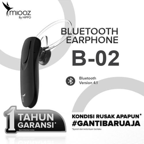 Foto Produk Hippo Miooz B02 Bluetooth Headset - Hitam dari iLo Official Store