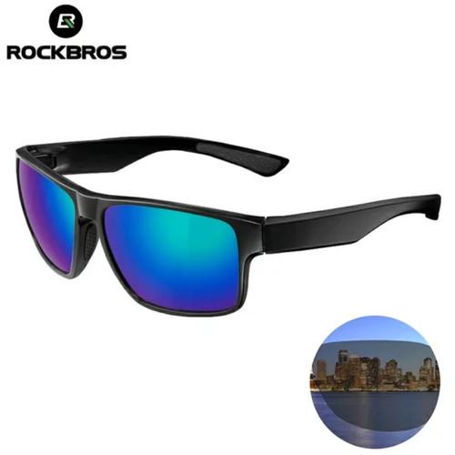 Foto Produk Kacamata ROCKBROS 10076 Rainbow Blue Polarized retro style dari Kaligung