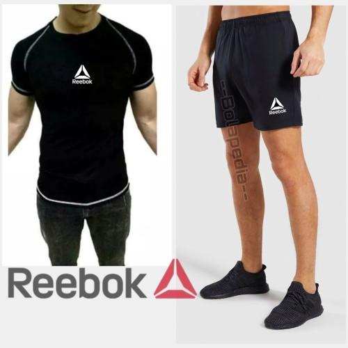 Foto Produk Stelan Kaos CPC REEBOK+ CELANA SPORT Olahraga fitnes Baju gym running dari Bolapedia