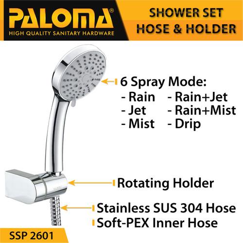 Foto Produk PALOMA SSP 2601 Shower Set Handshower Mandi Hand Head Kepala Air Paket dari PALOMA HARDWARE