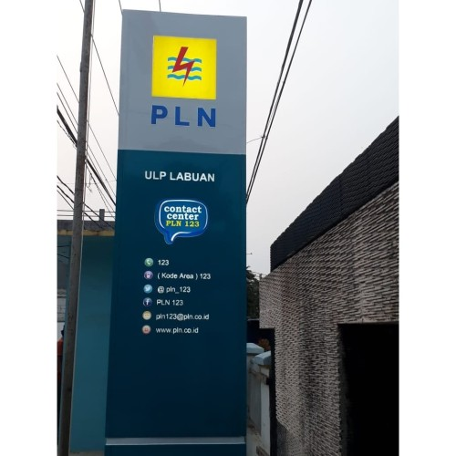 Foto Produk Pylon sign PLN Labuan Pandeglang Banten dari Huruf timbul Jkt