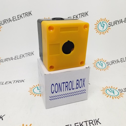 Foto Produk BOX BOK CONTROL KONTROL BOX PUSH BUTTON TOMBOL 22mm 1 LUBANG dari SURYA-ELEKTRIK