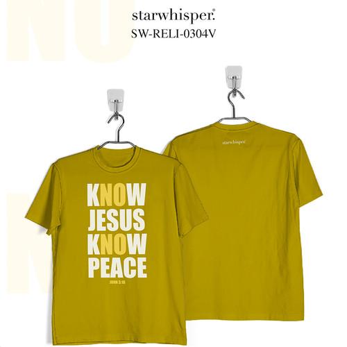 Foto Produk STARWHISPER RELIGIOUS T-Shirt - Know Jesus Know Peace! - Kuning, XS dari STAR WHISPER