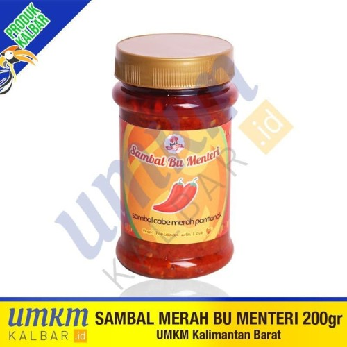 Foto Produk Sambal Bu Menteri - Sambel Cabe Merah Khas Pontianak 200 gram dari umkmkalbar.id