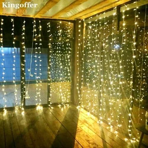 Foto Produk Lampu LED Tirai Lampu Natal Garland dari Raka Here_shop