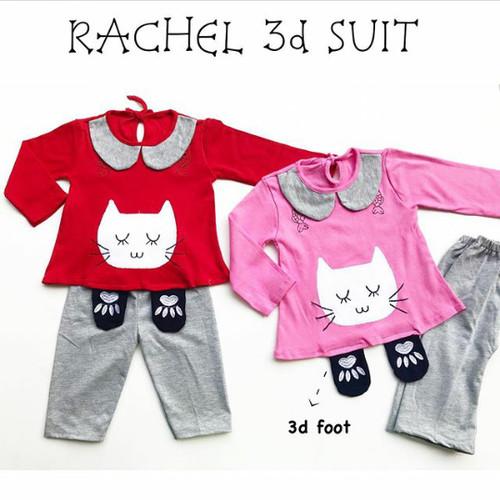 Foto Produk baju fashion setelan kaos celana panjang cat anak bayi perempuan dari The Fairy Babyshop