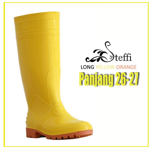 Foto Produk Fanie Shoes - Sepatu Steffi Boots Panjang 40-44 Kuning Karet Tahan Air - 27 dari Fanie shoes