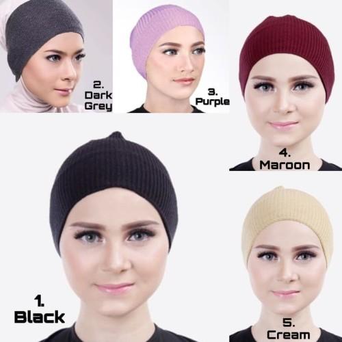 Foto Produk Ciput Inner/ Ciput Bandana rajut premium / inner hijab / Inner Rajut - Putih dari beautycornerjogja