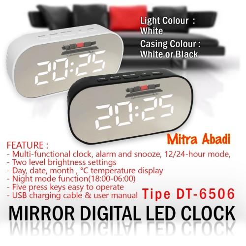 Foto Produk Jam Meja LED Digital / Modern LED Clock Style Tipe DT-6506 Minimalist - Hitam dari Toko Mitra Abadi
