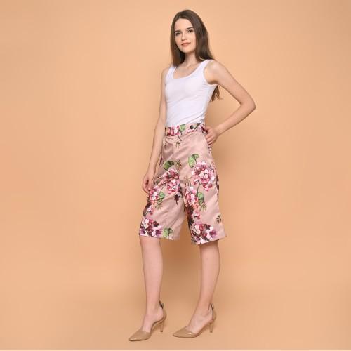 Foto Produk Cammomile Celana Kulot Wanita 031807009SP Grey motif bunga satin - Pink, S dari Cammomile FashionLine
