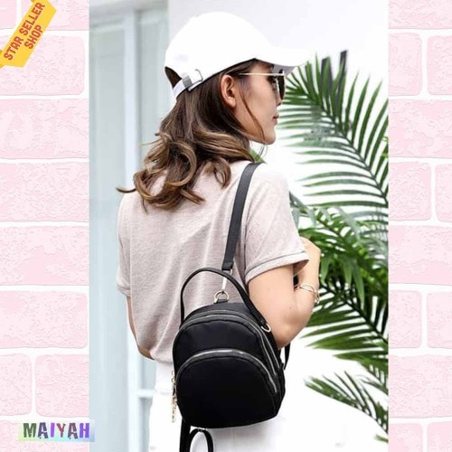Foto Produk Tas Ransel Wanita Import Backpack Multifungsi Tas Punggung Mini / ORI - Purple dari Spidernet_boyolali