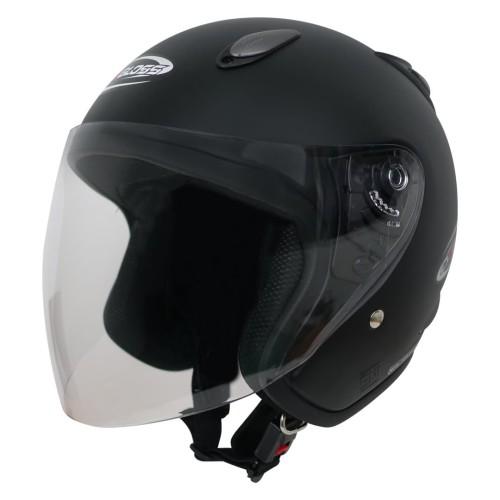 Foto Produk Helm Half Face YCN CR Cargloss Visor Hardcoat - Black Doff - L dari Helm Cargloss