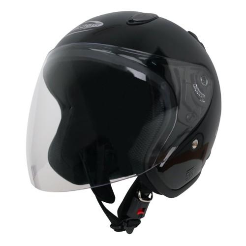 Foto Produk Helm Half Face YCN CR Cargloss Visor Hardcoat - Deep Black - XL dari Helm Cargloss