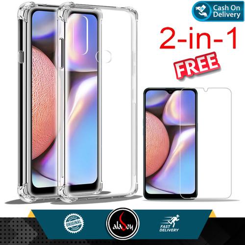 Foto Produk Case Samsung A10s Soft Case Anti Crack Free Tempered Glass dari Aladoy Shop Acc
