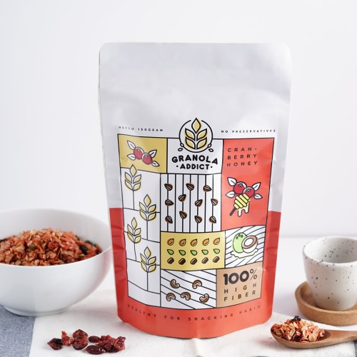 Foto Produk Granola Addict - Cranberry Honey 150g dari Granola Addict