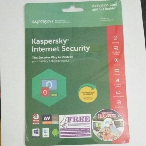 Foto Produk Kaspersky Internet Security 3 User 2018 dari Pakuan Strike