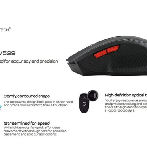 Foto Produk Fantech Gaming Mouse Wireless 2000 Dpi dari Pakuan Strike