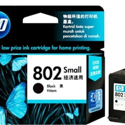Foto Produk Tinta Catridge Hp 802 Small Black Original dari Pakuan Strike