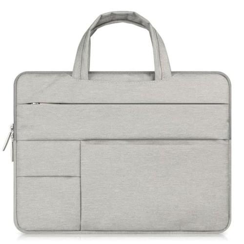 Foto Produk Tas Laptop Softcase Sleece Case Nylon Pocket Handstrap 13 Inch Abu dari Pakuan Strike