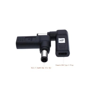 Foto Produk PROMO Laptop Power Adapter Connector Dc Plug USB Type C Female to - Plug B dari Evelyn Store07