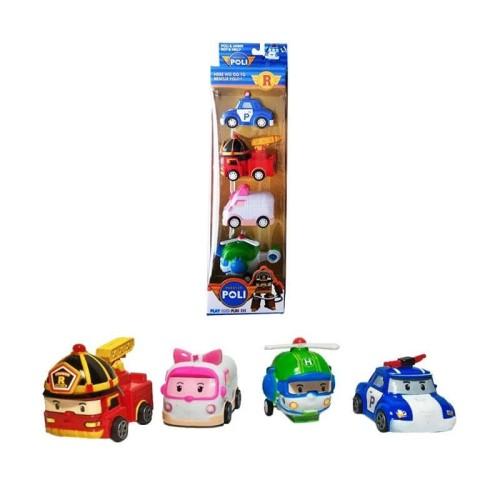 Foto Produk Robocar Pull Back Mainan Anak isi 4 pcs dari Deals Corner Toys