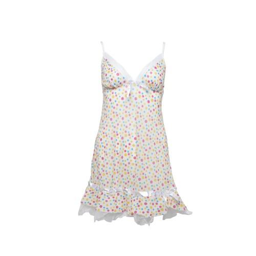 Foto Produk art. 588-14 You've Jaswin Lingerie Set Hitam Sexy Baju Tidur Wanita - Putih dari You've Official Store