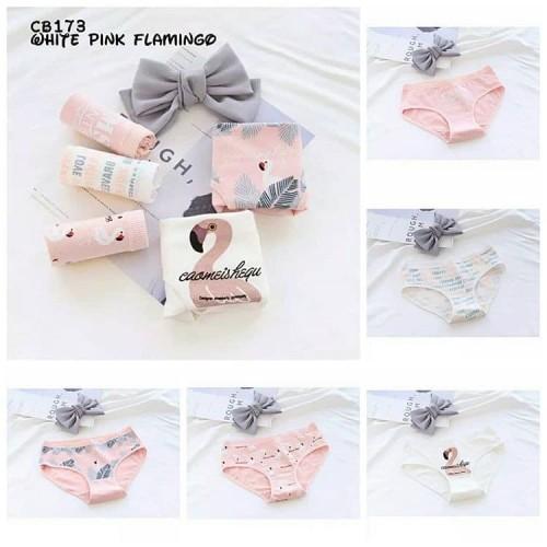 Foto Produk Celana Dalam Wanita Box Underwear Cute Korean Style 7Colourbox Size M - Pink Flamingo, M Fit to L dari Homestuff Corner