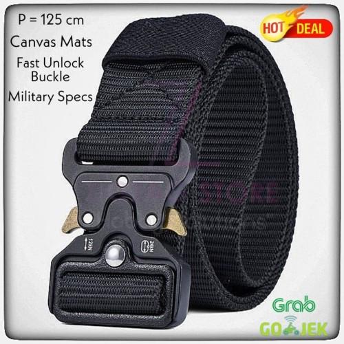 Foto Produk Tali Ikat Pinggang Miluota Canvas 125 Cm Military Tactical - Hitam dari ZigZag-Store