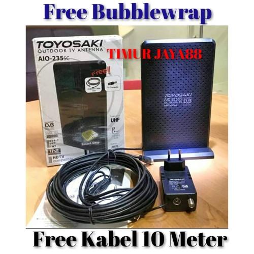 Foto Produk Antena TV Indoor/Outdoor Digital/Analog Toyosaki AIO 235 murah dari Timur Jaya88