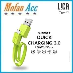 Foto Produk Hippo Kabel Data Charger Pendek 30cm Lica Type C Quick Charging 3.0 dari mofan accesories
