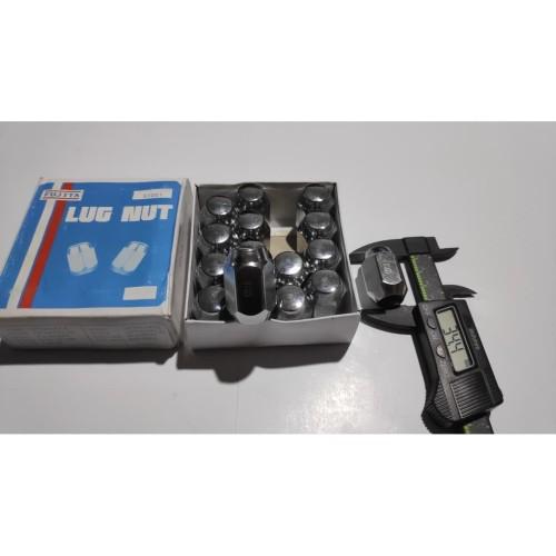 Foto Produk MUR RODA RACING MOBIL 12 MM FUJITA M12 Drat 1.5 Kunci 21 PENDEK SHORT dari AngRis