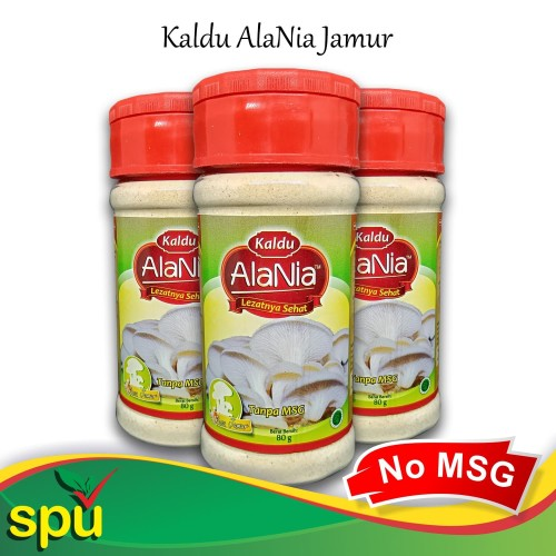 Foto Produk Kaldu AlaNia Jamur 80gr - Kaldu Sehat Non MSG - Kaldu MPASI dari SPU Official