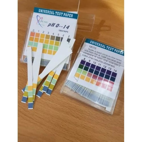 Foto Produk Kertas lakmus 100 pcs suncare ph paper 100 strip Universal test paper dari indophoenix