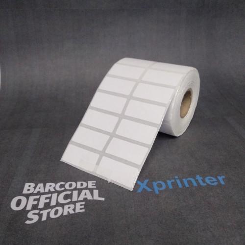 Foto Produk Stiker Kertas Label Barcode Thermal ukuran 33x15mm - 33 x 15 mm 2line dari Barcode Official Store