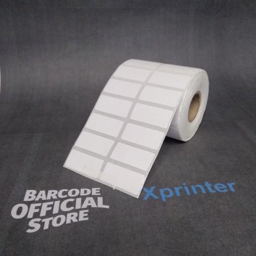 Foto Produk LABEL BARCODE XPrinter XP-360B Uk. 33 X 15 (2 LINE) THERMAL 33X15 MM dari Barcode Official Store