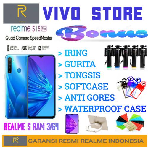 Foto Produk REALME 5 RAM 3/64 GARANSI RESMI REALME INDONESIA - Biru dari VIVO ST0RE