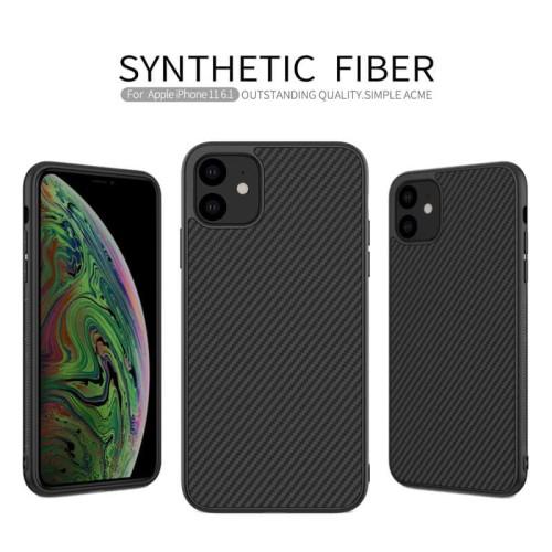 Foto Produk Nillkin Synthetic Fiber Case iPhone 11 - 6.1 Casing Black Soft Ori dari Logay Accessories