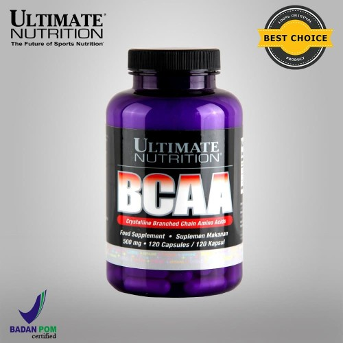 Foto Produk BCAA, 500 mg, 120 Caps - Ultimate Nutrition Official dari Ultimate Nutrition