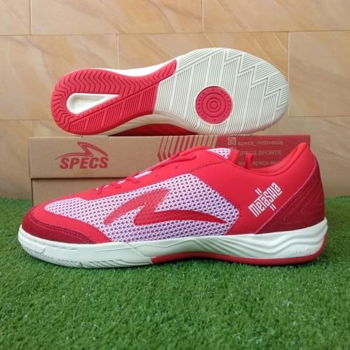 Foto Produk Specs Metasala Rival (Sepatu Futsal) - Emperor Red/Solar Red/Off White dari KICKOFF SPORTS