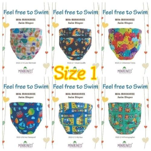 Foto Produk Popok Renang Bayi Size1 (7-11kg)   Clodi Swim Diaper Minikinizz - Sesuai Chat dari Aquo Shop