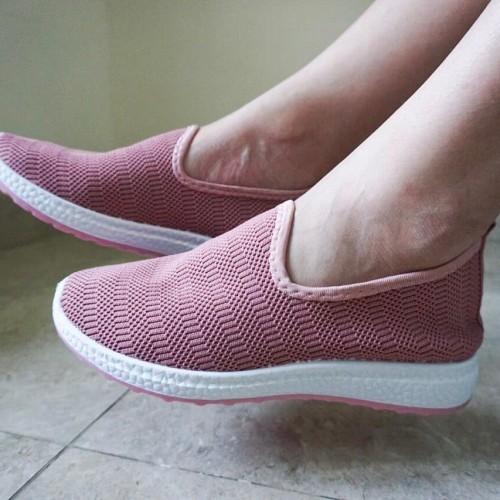 Foto Produk Sepatu Slip On Elastis Wanita Original M&M Collection N10 - Merah Muda, 39 dari G&V