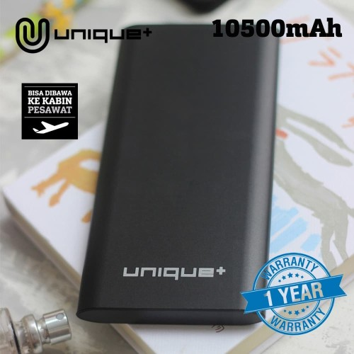 Foto Produk Unique Power Bank Slim Metal 10500mAh With Smart Protection - Abu-abu dari Unitech Official