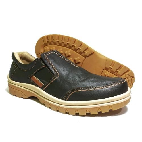 Foto Produk Sepatu casual pria kulit asli murah elegan - Cokelat, 39 dari rif&lif store