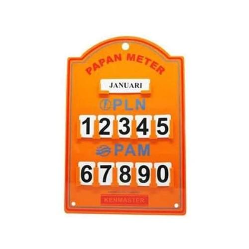 Foto Produk Papan Meteran Pln Pam Listrik Air Meter Kenmaster - Hijau dari LessiShop9