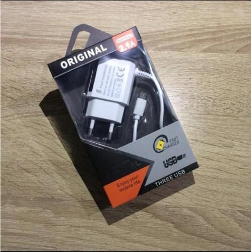 Foto Produk CHARGER CASAN SAMSUNG DUAL USB NEW LED 2.1A REMAX EDITION - CANDYPACKPLASIK dari JV ACC