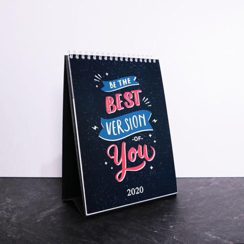 Foto Produk Kalender Goals 2020 | Kalender Meja Keren dari Otello Laser Cut