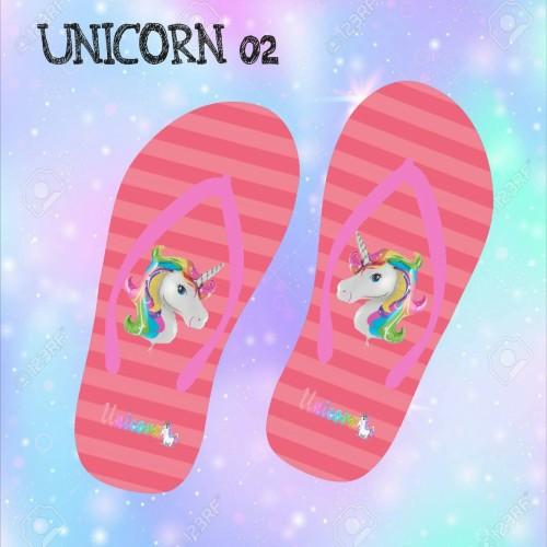 Foto Produk Sandal jepit flat motif unicorn untuk wanita   sandal pantai dari casaloma