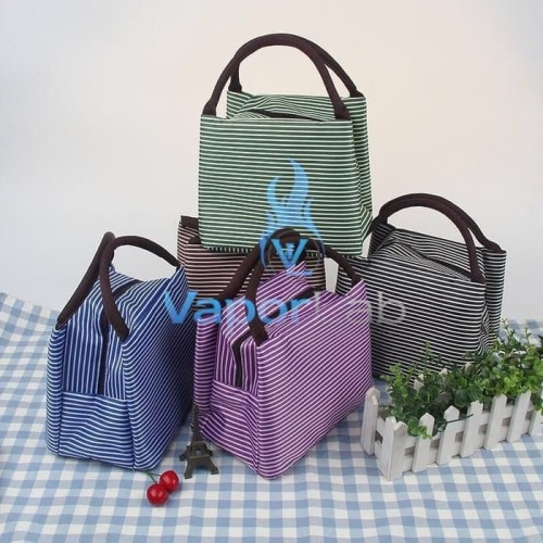 Foto Produk 003 insulated lunch bag cooler bag tas bekal kotak makan rantang garis dari Andri Wongso Jaya